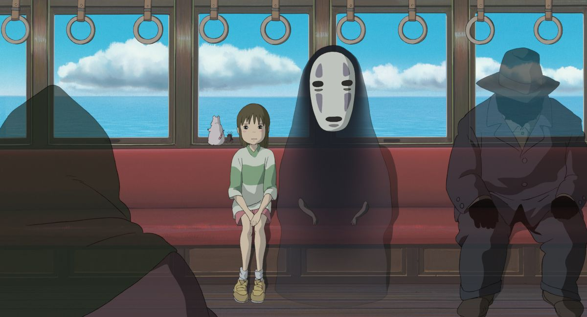 Sen and No-Face in Spirited Away (2001)