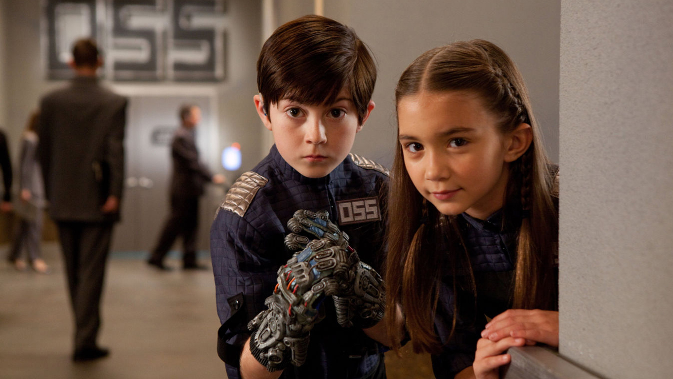 The new Spy Kids - Mason Cook and Rowan Blanchard in Spy Kids: All the Time in the World (2011)