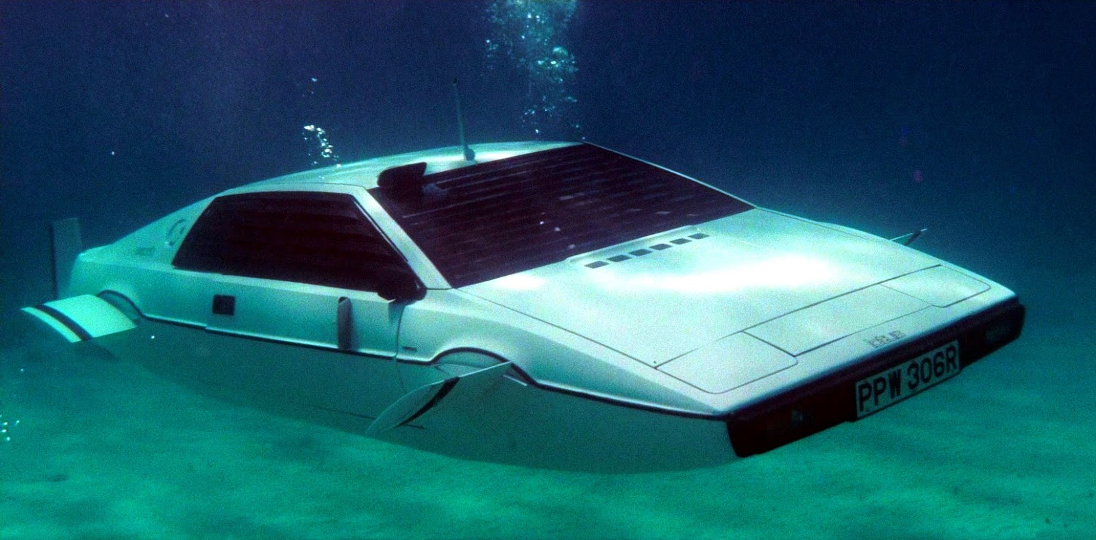 The Lotus Esprit that converts to a submarine in The Spy Who Loved Me (1977)