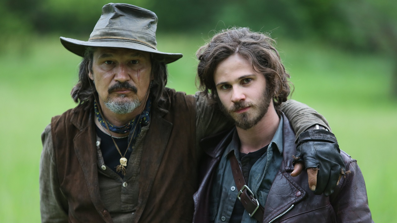 Mister (Nick Damici) and Martin (Connor Paolo) in Stake Land II (2016)