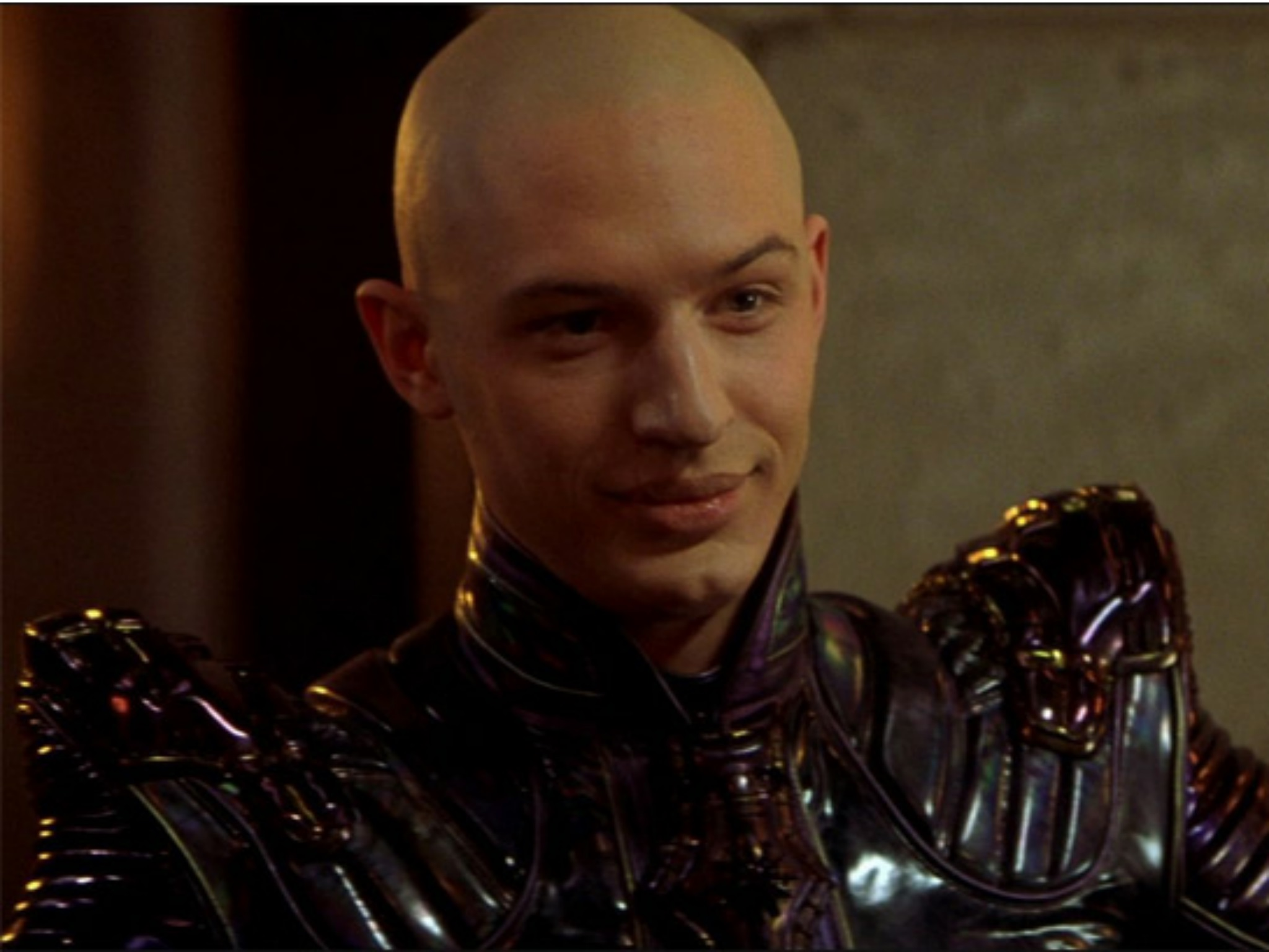 Romulan bad guy Shinzon (Tom Hardy) in Star Trek: Nemesis (2002)