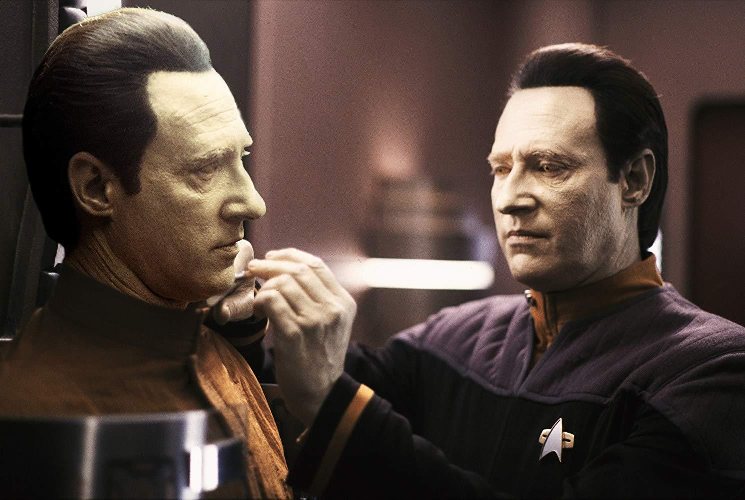 Data and the B-4 (Brent Spiner) in Star Trek: Nemesis (2002)