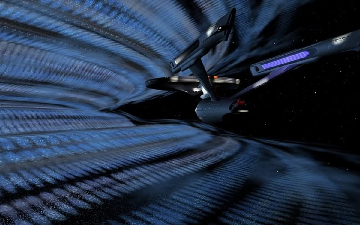 The Enterprise ventures into the V'Ger cloud in Star Trek - The Motion Picture (1979)