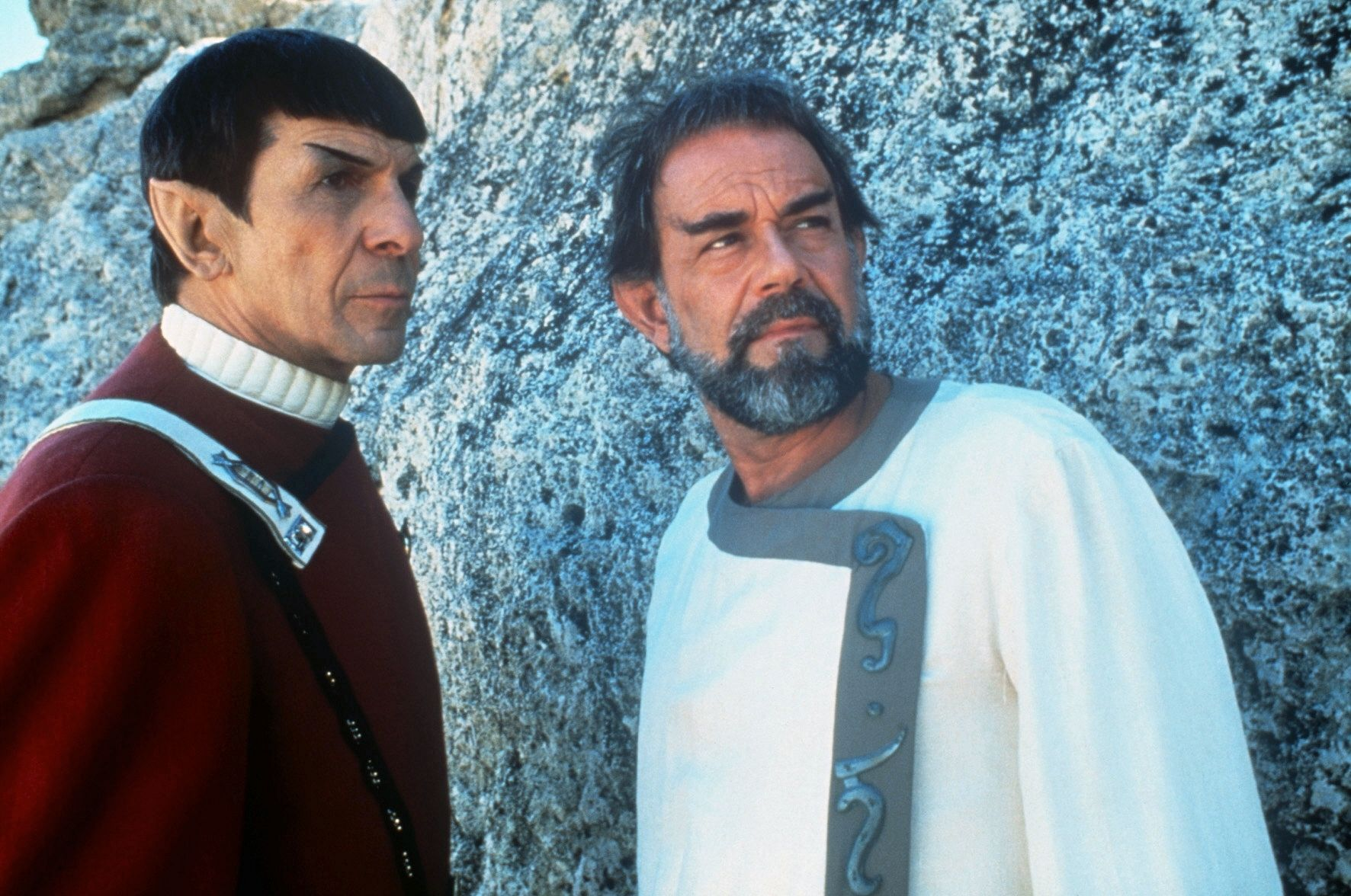 Spock (Leonard Nimoy) and his half-brother Sybok (Lawrence Luckinbill) in Star Trek V: The Final Frontier (1989)