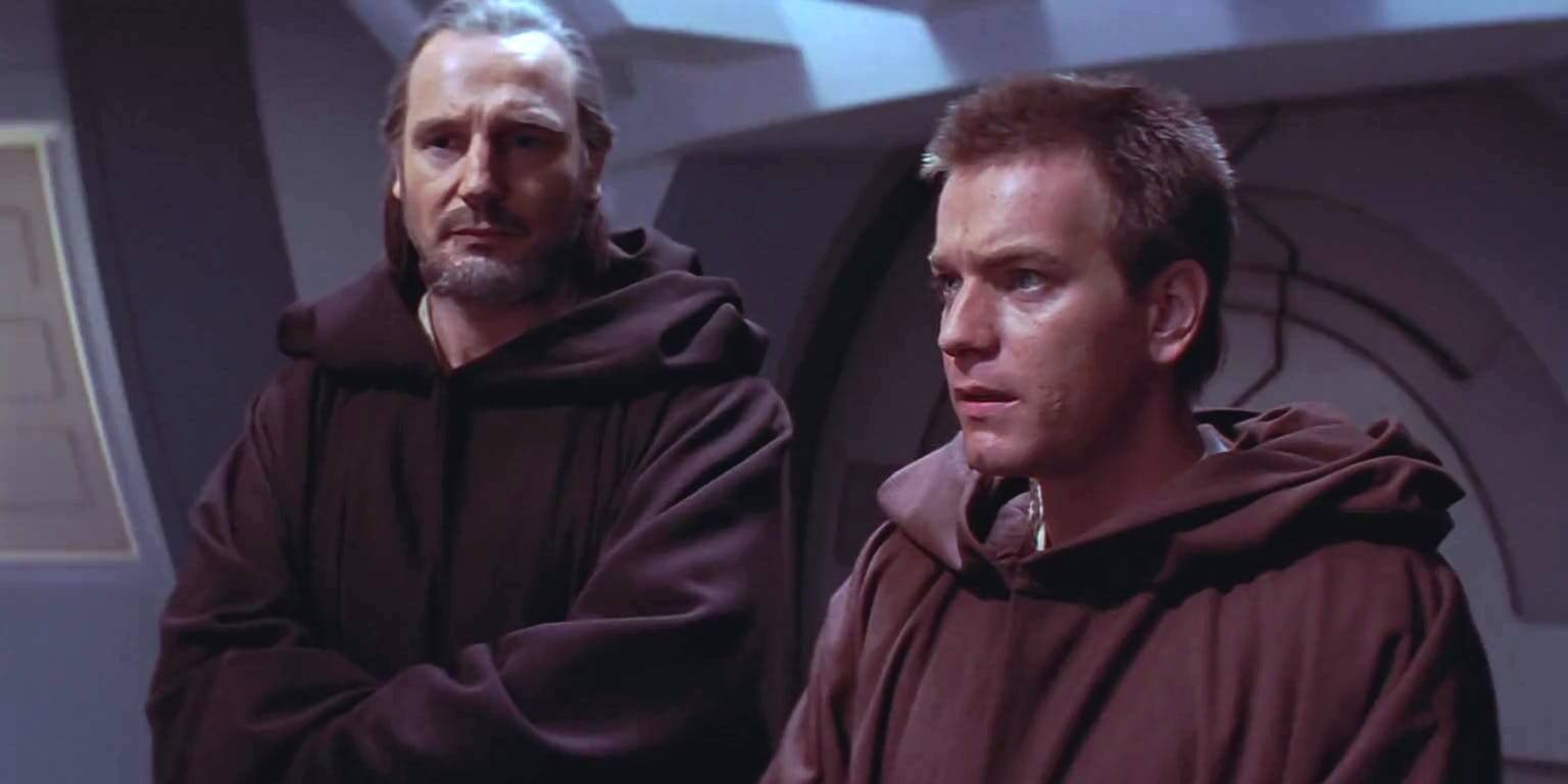 Qui-Gonn Jinn (Liam Neeson) and the young Obi-Wan Kenobi (Ewan McGregor) in Star Wars Episode I The Phantom Menace (1999) 13