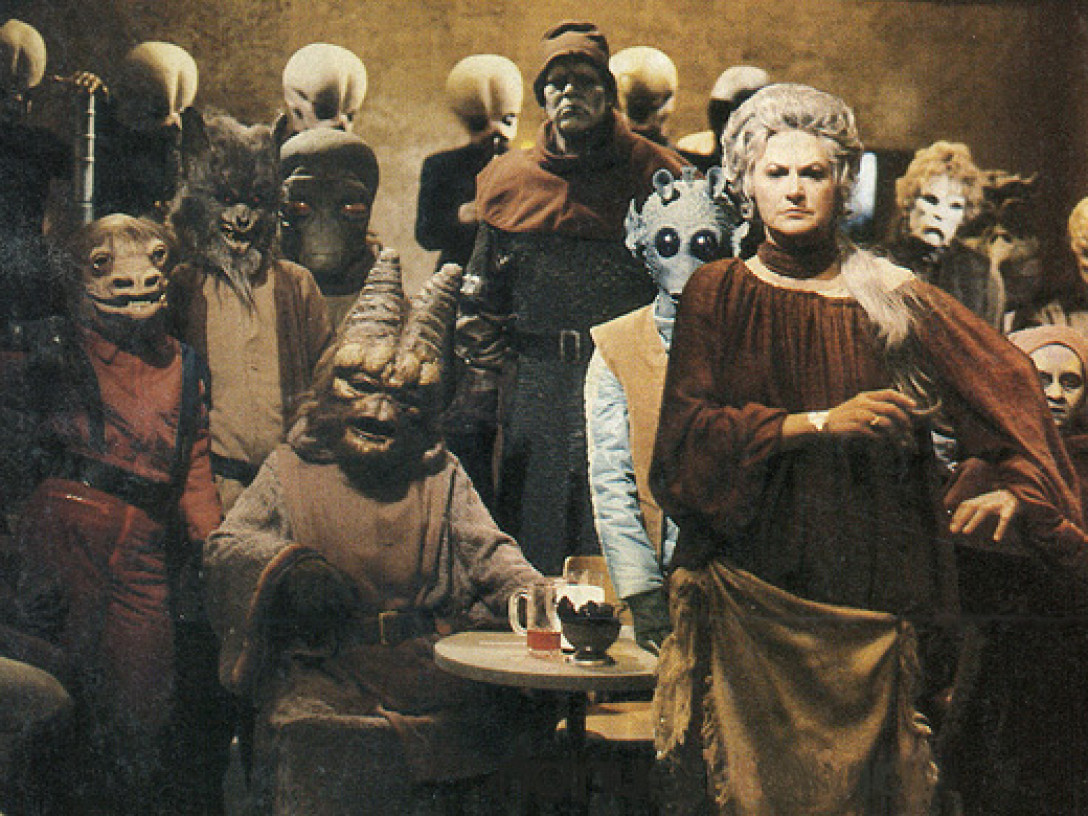 Bea Arthur as the owner of the Mos Eisley cantina in The Star Wars Holiday Special (1978)