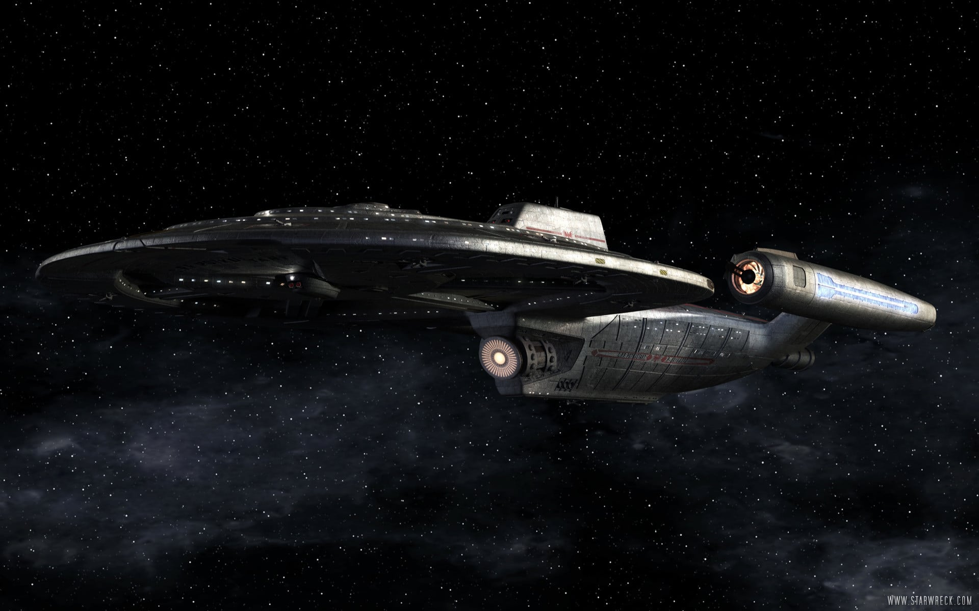 The starship Kickstart - an example of the extraordinary effects, all created on home computers in Star Wreck: In the Pirkinning (2005)