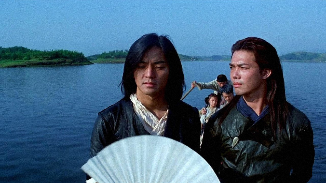 (l to r) Brothers Striding Cloud (Aaron Kwok) and Whispering Wind (Ekin Cheng) in The Storm Riders (1998)