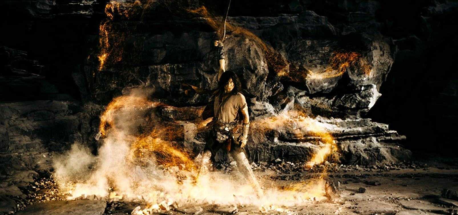 The return of Cloud (Aaron Kwok) in Storm Warriors (2009)