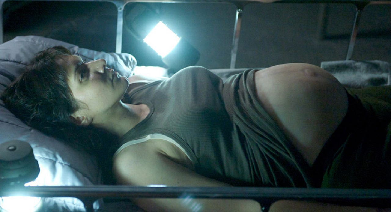 An alien-impregnated Amy Matysio in Stranded (2013)