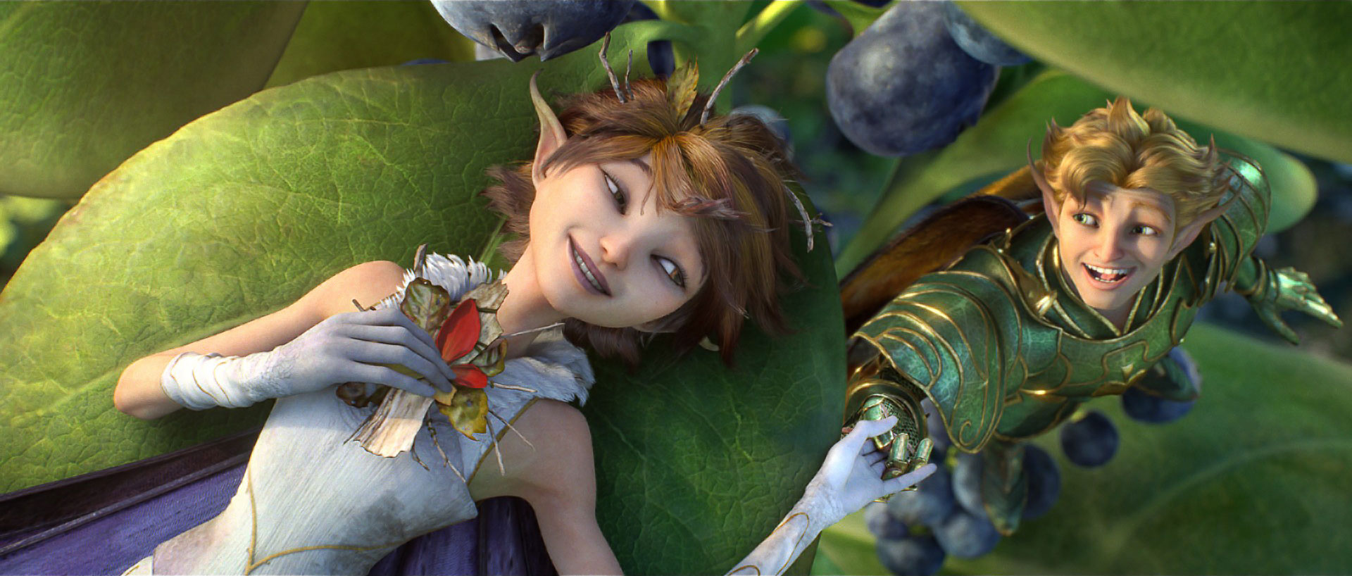 The Fairy King's daughter Marianne and her betrothed Roland in Strange Magic (2015)