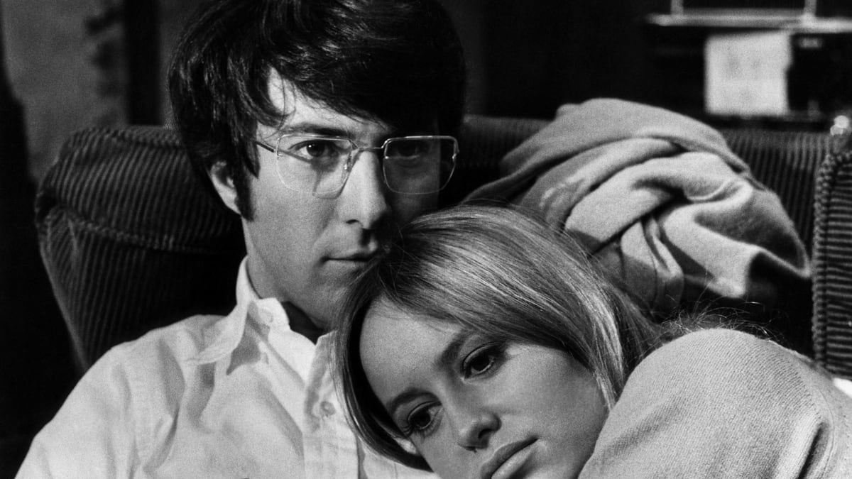 Dustin Hoffman and wife Susan George in Straw Dogs (1971)
