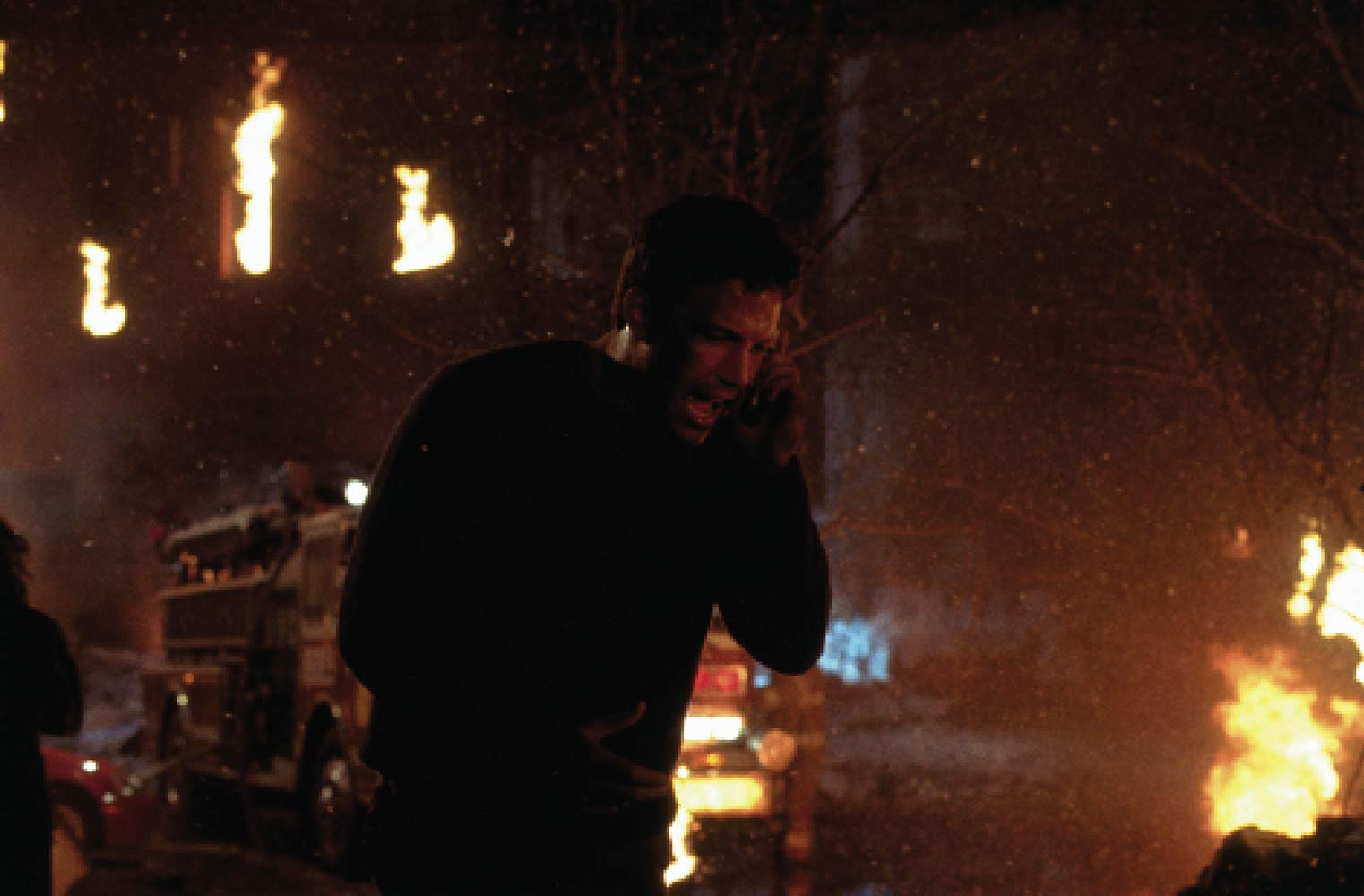 Jack Ryan (Ben Affleck) runs through the aftermath of a nuclear strike in The Sum of All Fears (2002)
