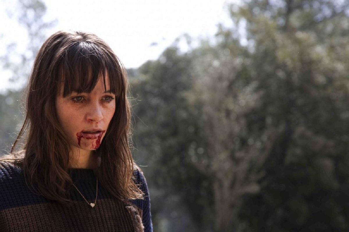 An infected Jocelin Donahue in Summer Camp (2015)