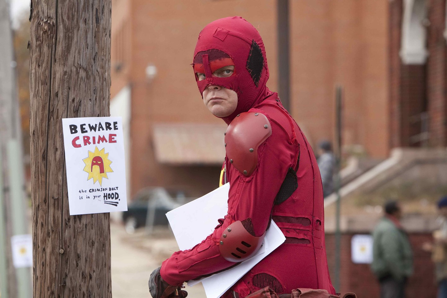 Rainn Wilson in his superhero guise as The Crimson Bolt in Super (2010)