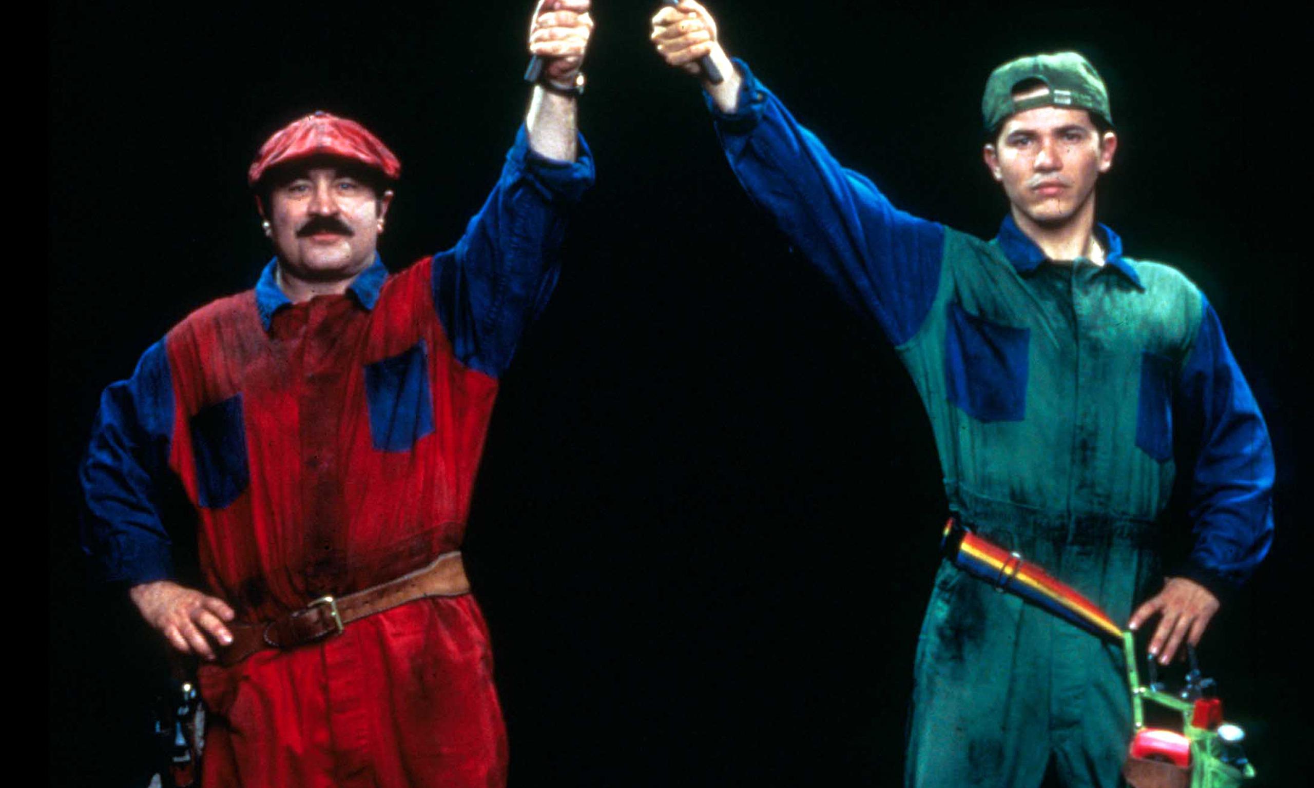 Bob Hoskins as Mario and John Leguizamo as Luigi in Super Mario Bros. (1993)
