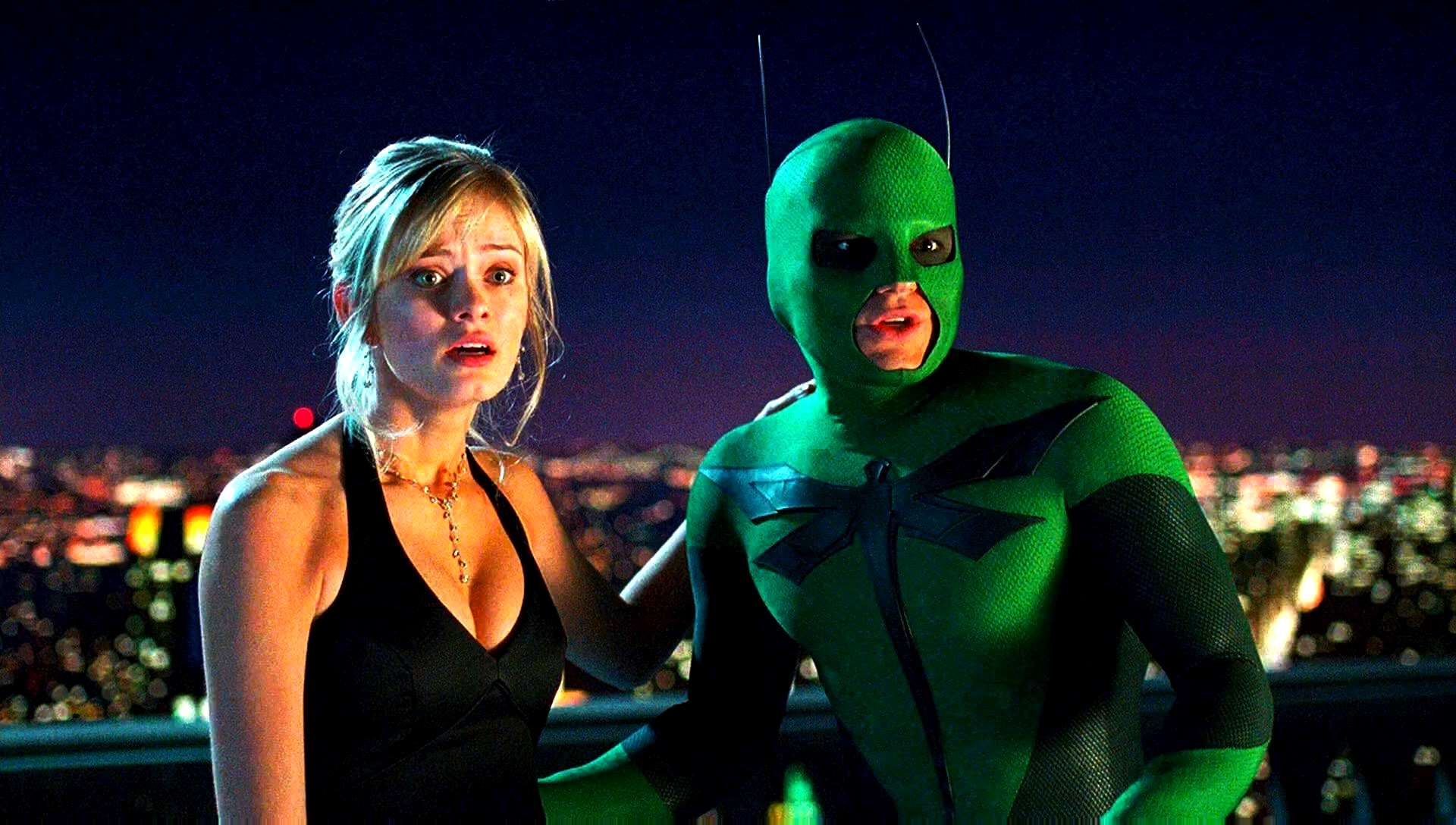 Sara Paxton, Drake Bell as The Dragonfly in Superhero Movie (2008)