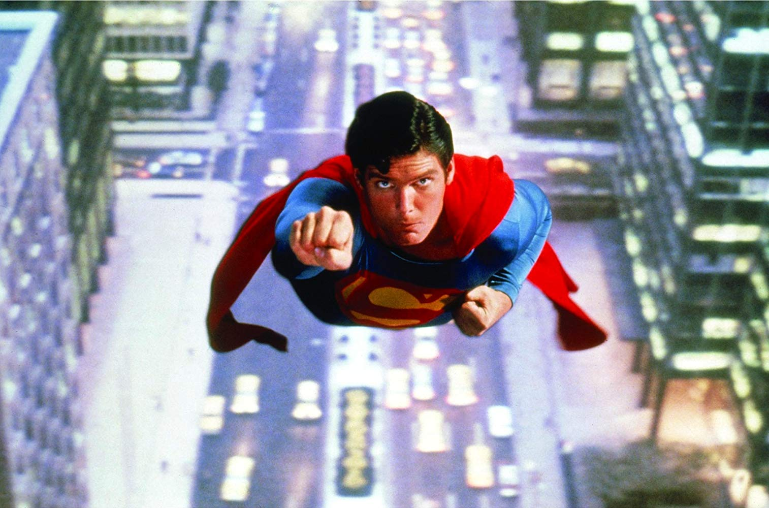 Christopher Reeve takes flight in Superman (1978)
