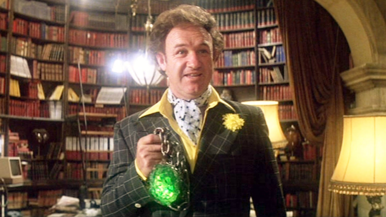 Lex Luthor (Gene Hackman) wields Kryptonite in Superman (1978)