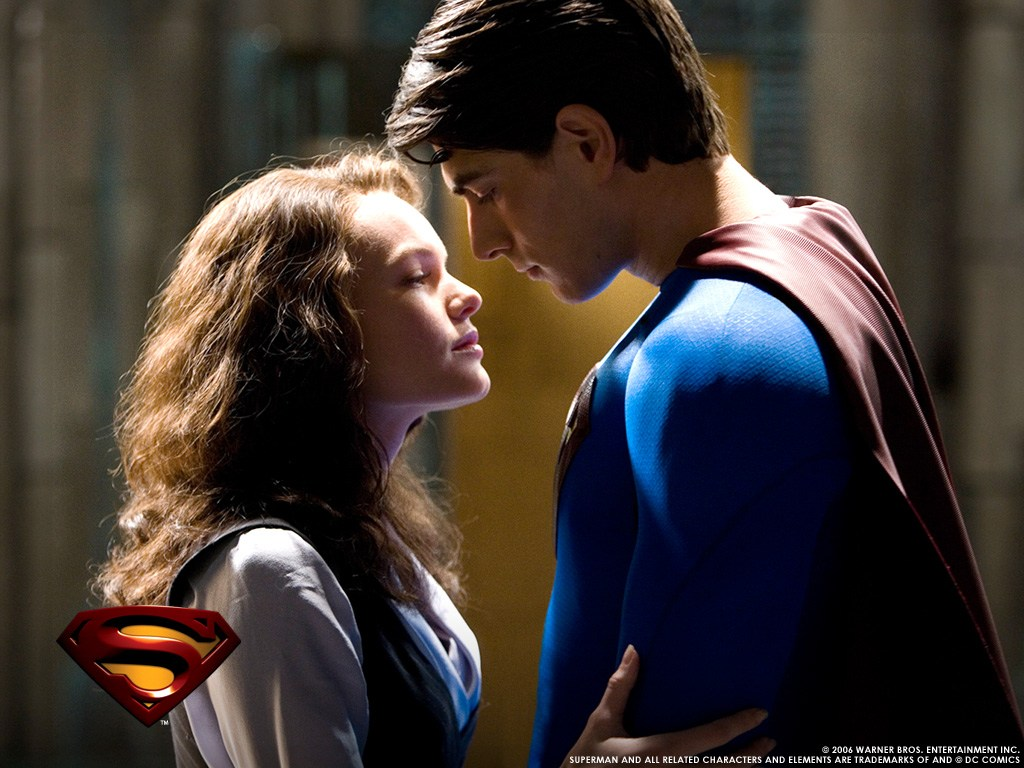 Romantic reconciliation between Superman (Brandon Routh) and Lois Lane (Kate Bosworth) in Superman Returns (2006)