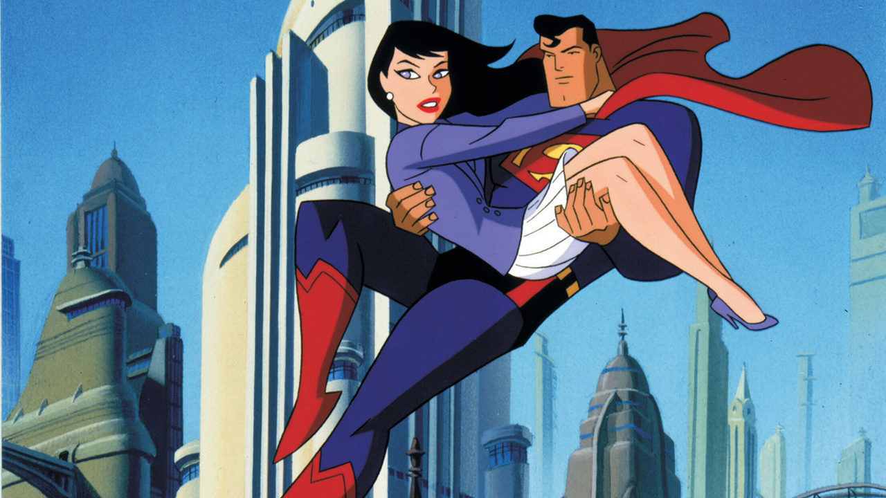 Superman (voiced by Tim Daly) and Lois Lane (voiced by Dana Delany) in Superman The Last Son of Krypton (1996)