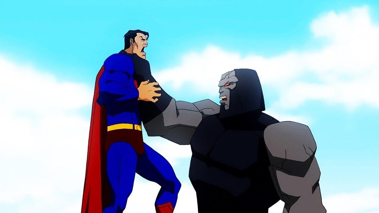 Superman faces Darkesid in Superman and Batman Apocalypse (2010)