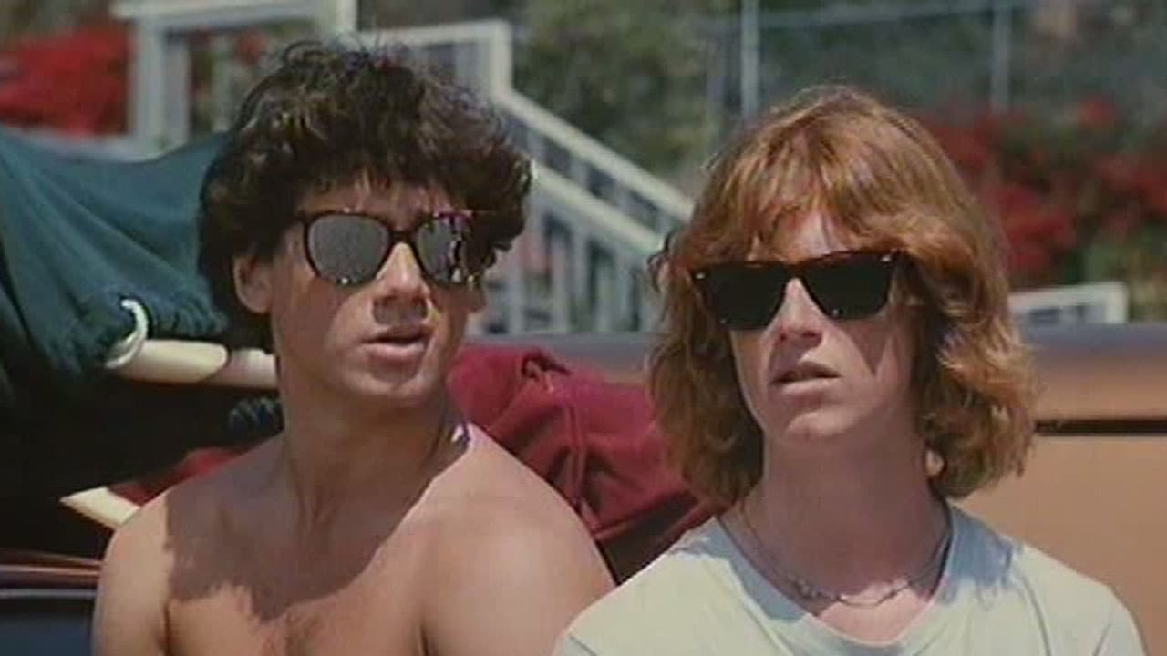 Best friends Jeffrey Rogers and a teenage Eric Stoltz in Surf II (1984)