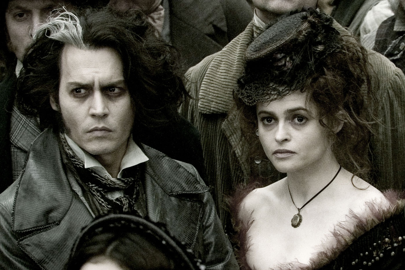 Sweeney Todd (Johnny Depp) and Mrs Lovett (Helena Bonham Carter) in Sweeney Todd: The Demon Barber of Fleet Street (2007)