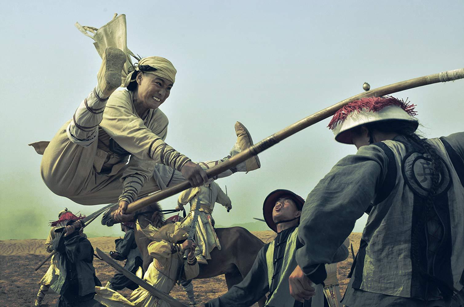 Jayden Yuan in martial arts action in Taichi Zero (2012)