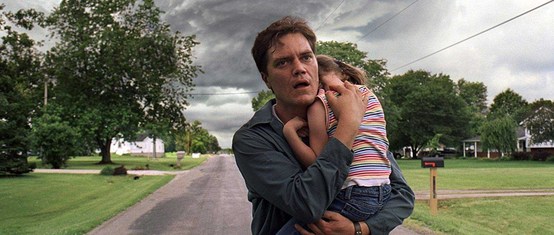 Michael Shannon with daughter Tova Stewart has vision of the coming storm in Take Shelter (2011)