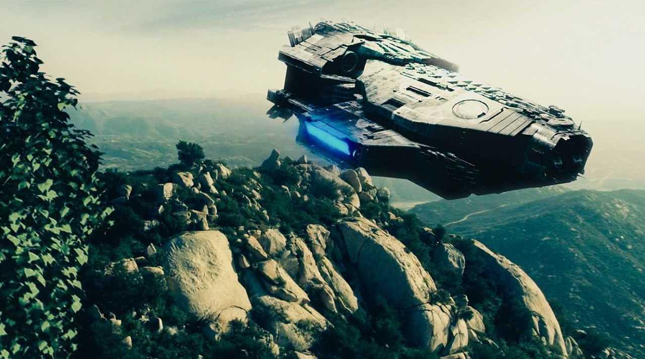 An alien invader's ship in Taking Earth (2017)