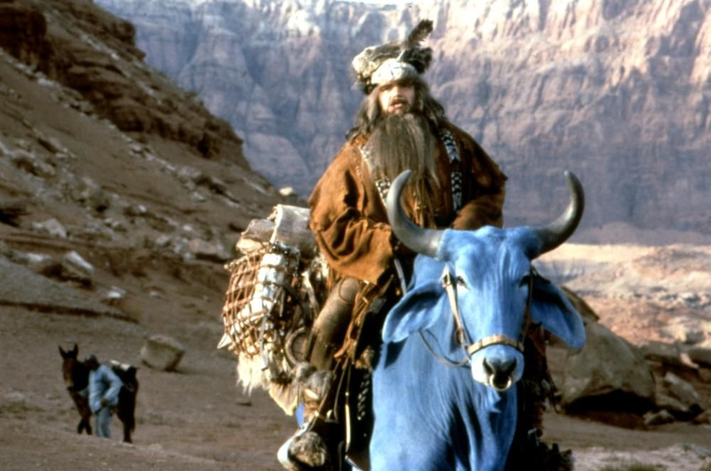 Olive Platt as Paul Bunyan riding on Blue in Tall Tale (1995)