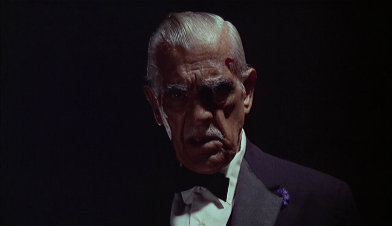 Boris Karloff in his penultimate performance as aging horror star Byron Orlok in Targets (1968)