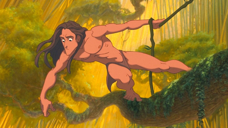 The Disney animated incarnation of Edgar Rice Burroughs' ape man Tarzan (voiced by Tony Goldwyn) in Tarzan (1999)