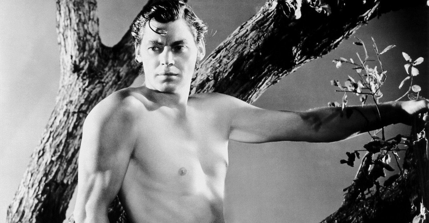 Johnny Weissmuller in his first appearance as Tarzan the Ape Man (1932)