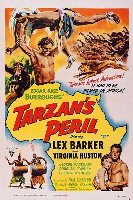 Tarzan's Peril (1951) poster