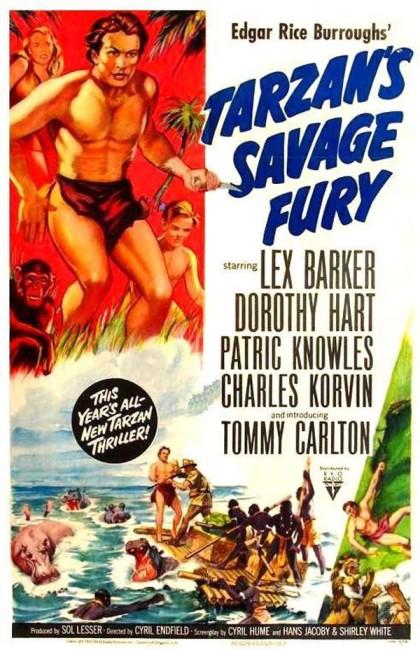 Tarzan's Savage Fury (1952) poster