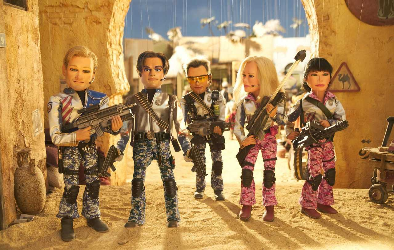 Team America in action in Team America: World Police (2004)
