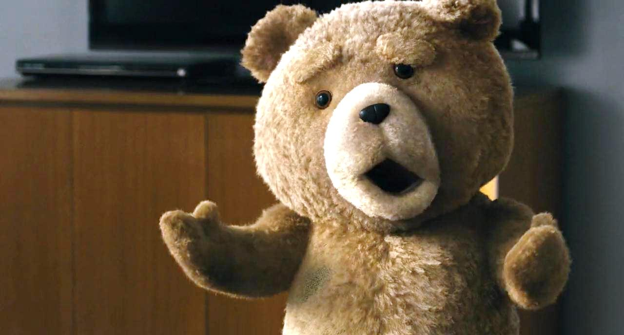 Ted the foul-mouthed teddy bear (voiced by Seth MacFarlane) in Ted (2012)