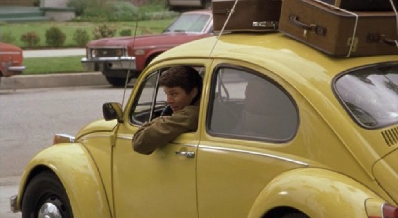 Ted Bundy (Michael Reilly Burke) in his familiar VW Bug in Ted Bundy (2002)