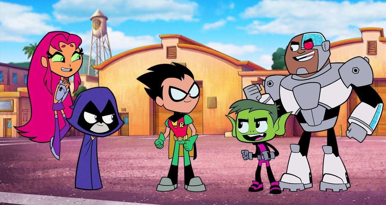 Starfire, Raven, Robin, Beast Boy in Teen Titans Go! To the Movies (2018)and Cyborg in Teen Titans Go! To the Movies (2018)
