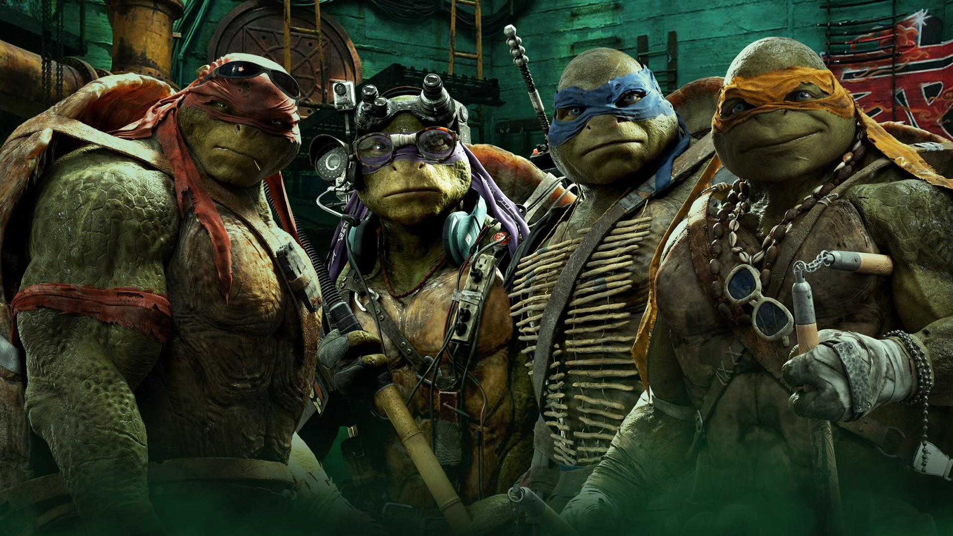 The new rebooted Teenage Mutant Ninja Turtles (2014) - (l to r) Raphael, Donatello, Leonardo and Michelangelo