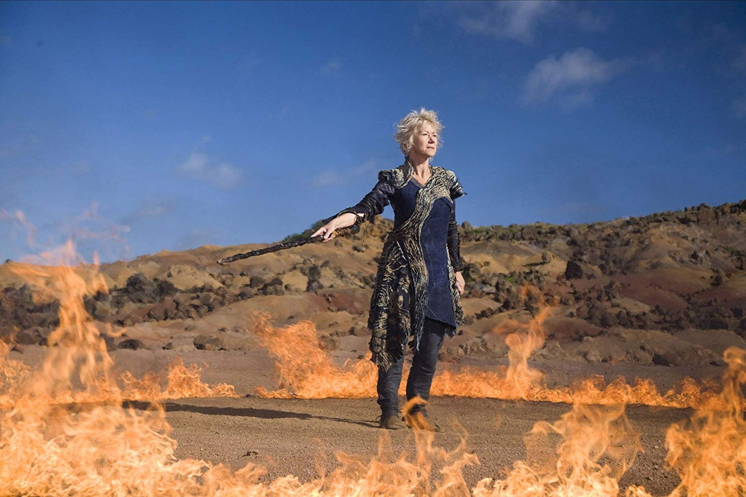 Helen Mirren as Prospera, the female Prospero in The Tempest (2010)