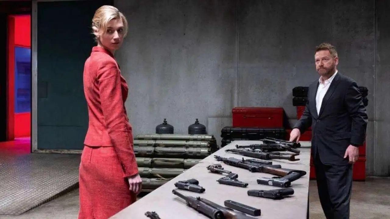 Katherine 'Kat' Barton (Elizabeth Debicki) and Andrei Sator (Kenneth Branagh) in Tenet (2020)
