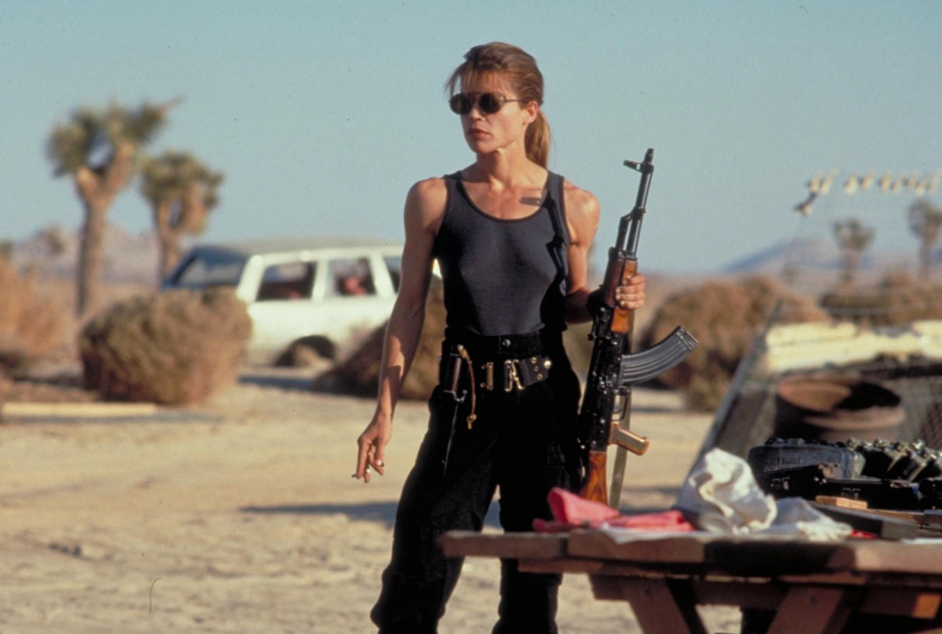 Sarah Connor (Linda Hamilton) in Terminator 2 Judgment Day (1991)