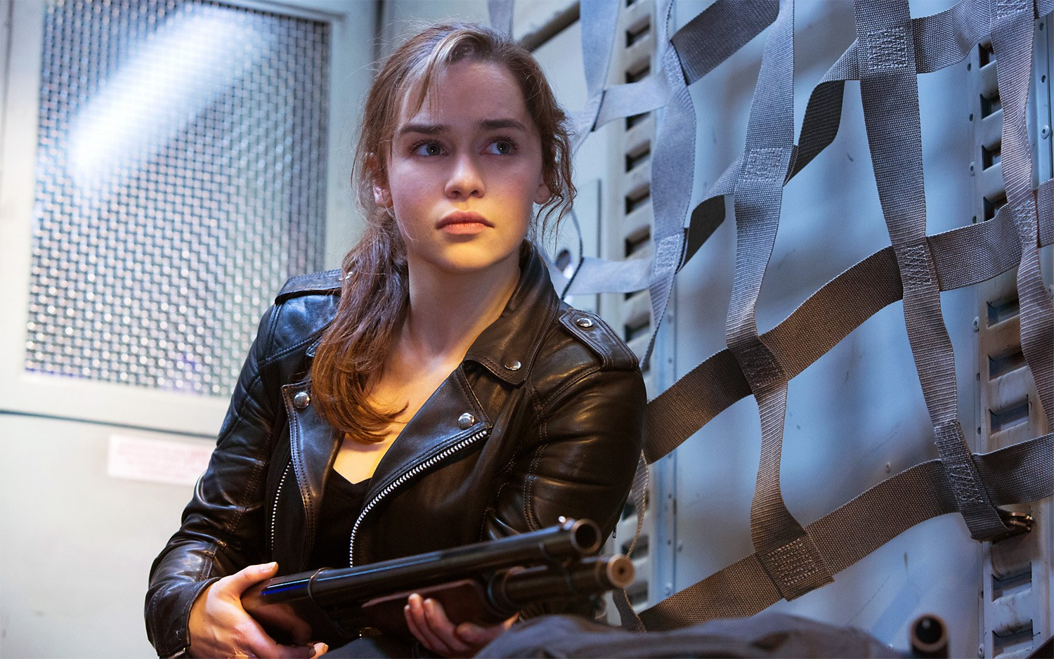 Emilia Clarke as the new Sarah Connor in Terminator Genisys (2015)