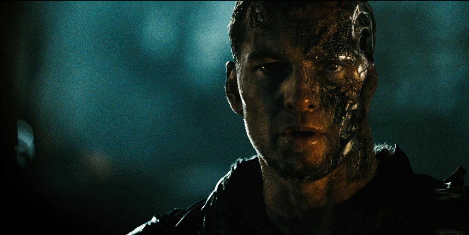 Sam Worthington as the half-human, half-machine Marcus Wright in Terminator Salvation (2009)