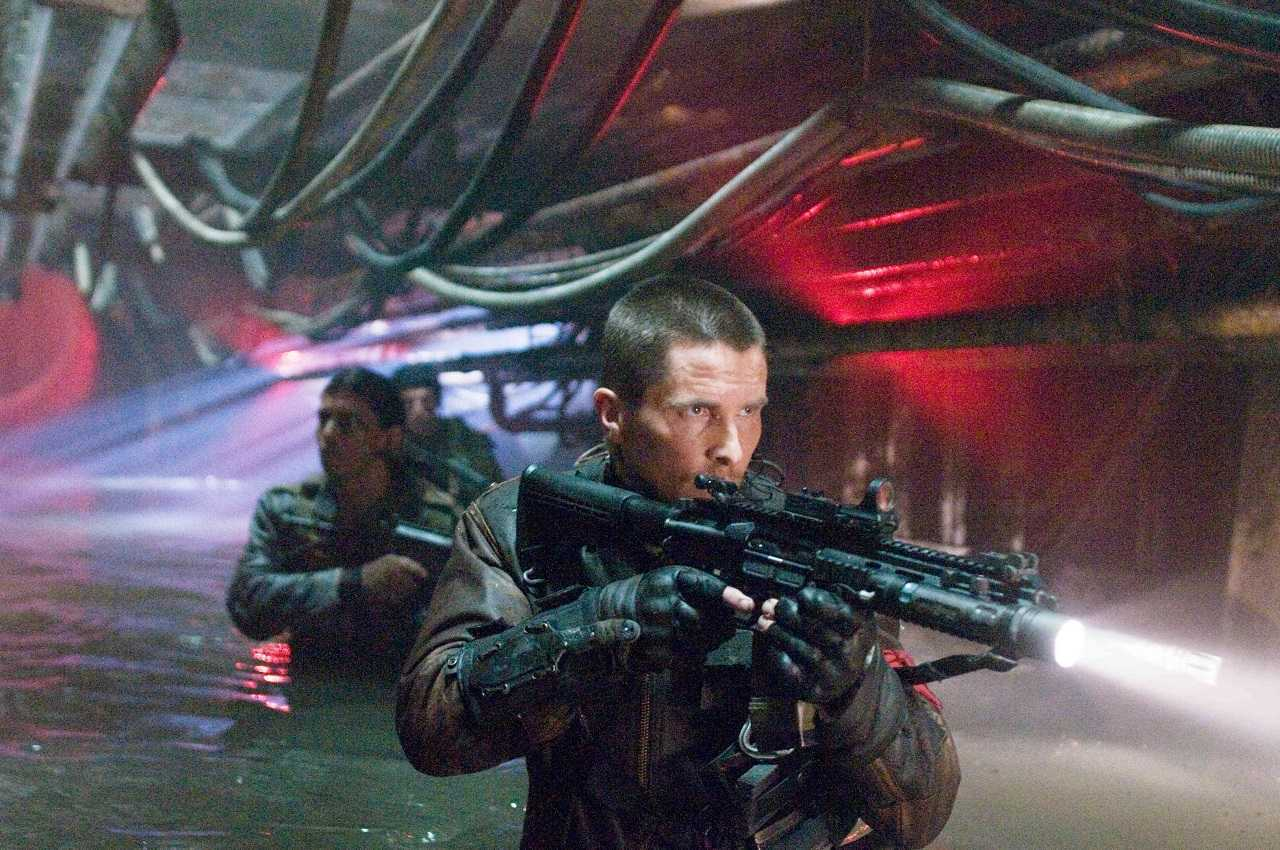 John Connor (Christian Bale) leads the resistance in Terminator Salvation (2009)