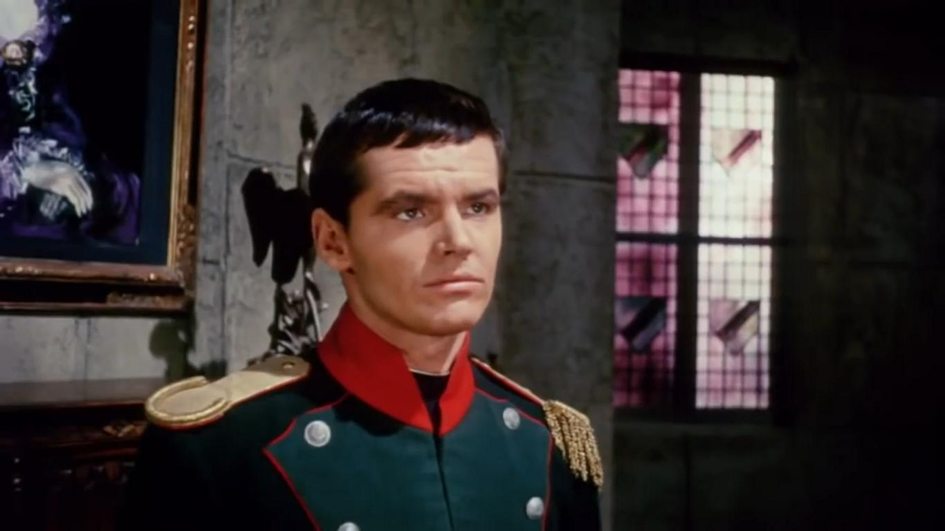 Jack Nicholson as young Napoleonic officer Andre Duvalier in The Terror (1963)