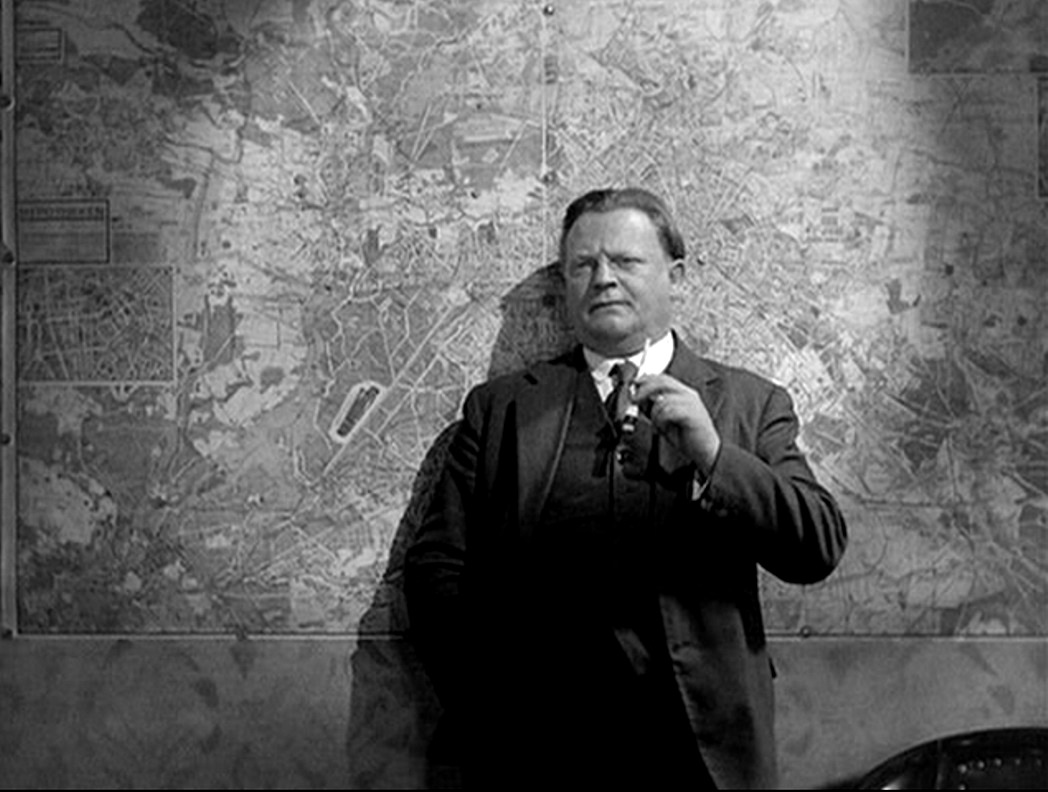 Mabuse's nemesis of Inspector Lohmann (Otto Wernicke) in The Testament of Dr Mabuse (1933)